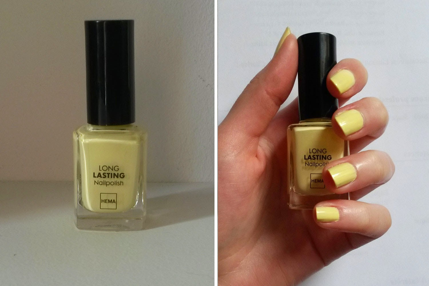 TAG Crazy about nail polish hema yellow pastel 443