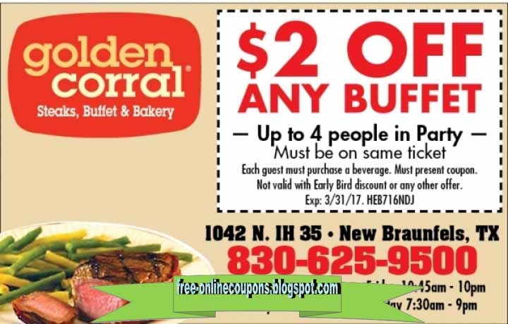 Golden corral discount coupons 2018