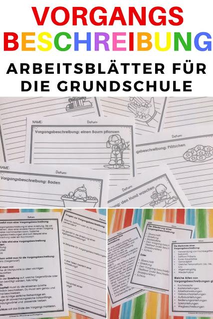 Vorgangsbeschreibung oder Anleitung in der Grundschule oder im DaF-Unterricht durchnehmen. Mit dieser Materialsammlung klappt Deutsch lernen ganz einfach.