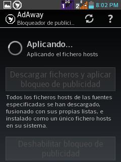 Se fusiona la actualización con el archivo hosts.