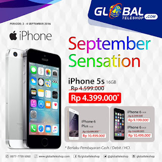 iPhone September Sensation Promo di Global Teleshop