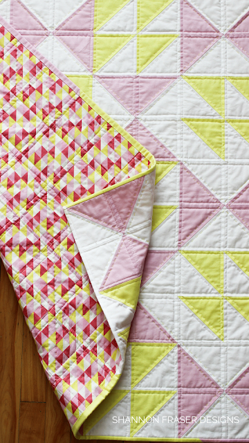 Pink Lemonade Quilt Pattern by Shannon Fraser Designs | Modern Quilts | Baby Girl Quilt