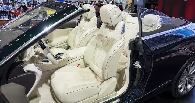 Ghế ngồi Mercedes S500 Cabriolet thiết kế sang trọng nhưng không kém phần thể thao