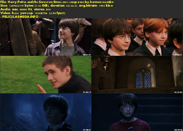 Descargar Harry Potter and the Sorcerer's Stone Subtitulado por MEGA.