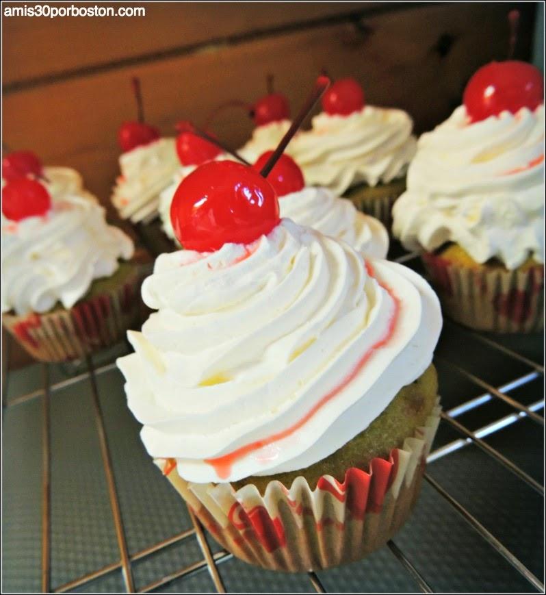 Cupcakes de Té Matcha y Pepitas de Chocolate