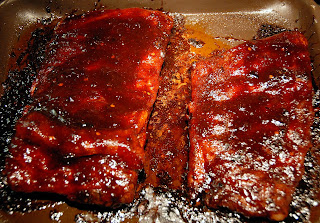 Applying the Chef George Spicy Asian Glaze - Ribs Glazed and Ready to Serve