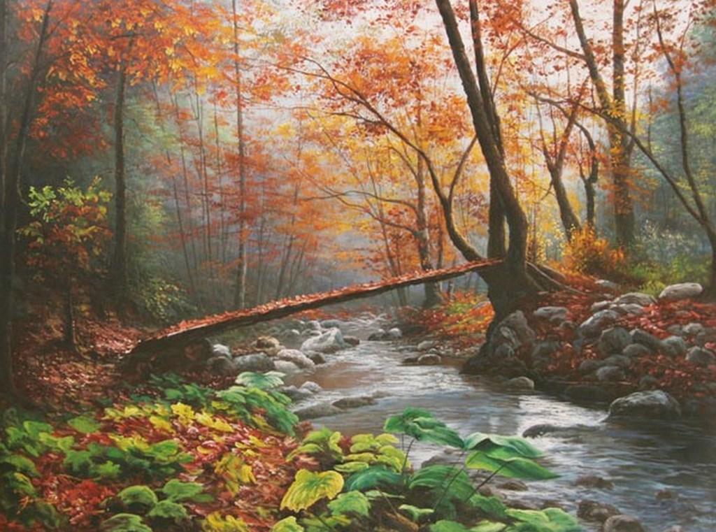 Cuadros modernos pinturas y dibujos pinturas de paisajes - Cuadros con fotografias ...