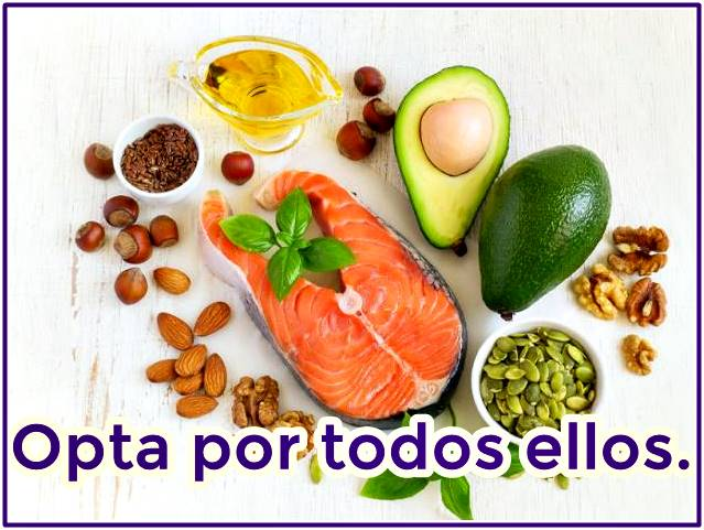 Consume alimentos con grasas buenas siempre
