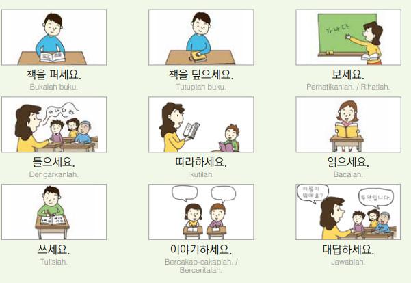BAB3. 교실 한국어 (Kelas Bahasa Korea)