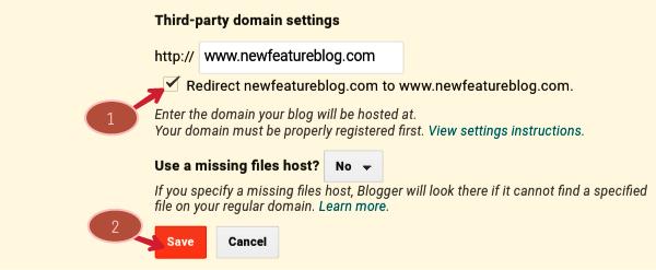tick on redirect sitename.com to www.sitename.com