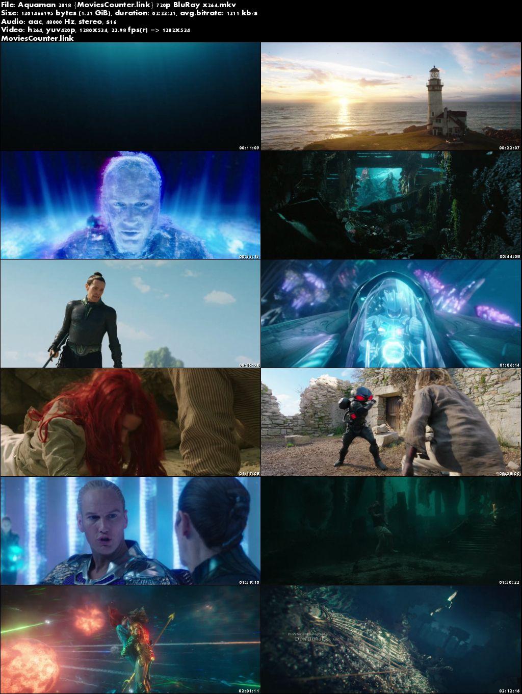 Screen Shots Aquaman 2018 English HD 720p