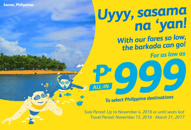 Cebu Pacific 999 Promo Fare 2016-2017