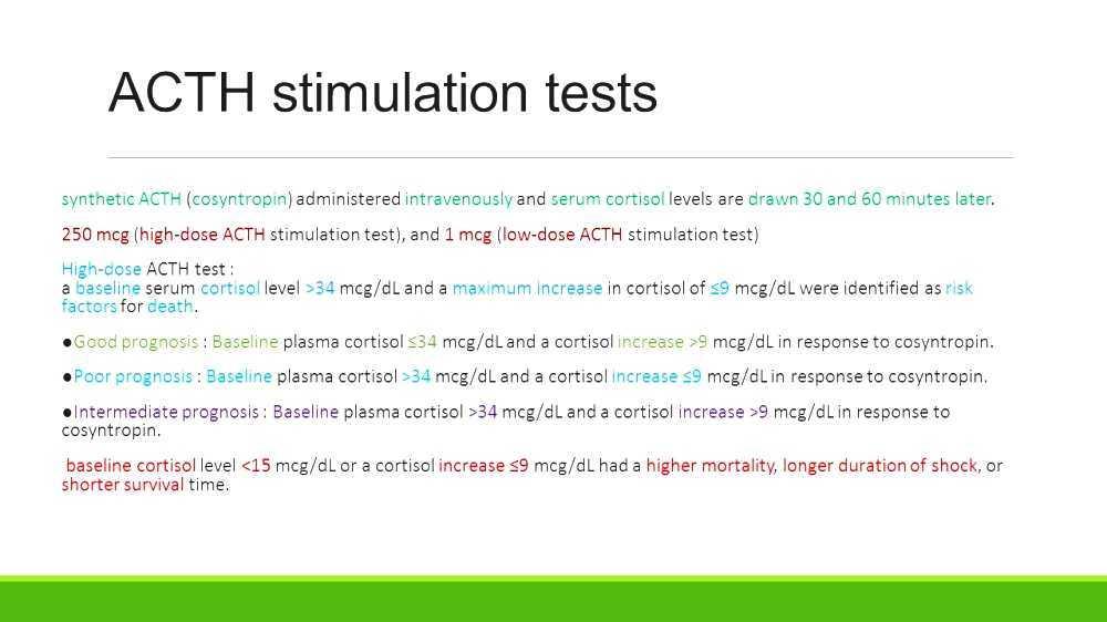 Acth Stimulation Test