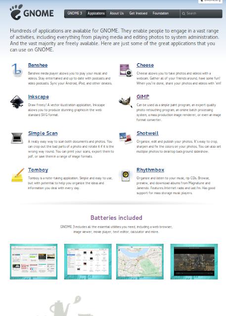 Algunas de las aplicaciones más conocidas de GNOME