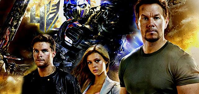 Optimus Prime alături de Jack Reynor, Nicola Peltz şi Mark Wahlberg în Transformers: Age Of Extinction