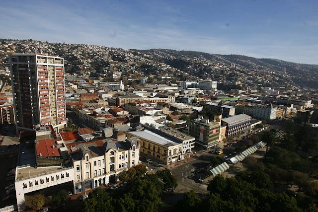 Bairro El Almendral em Valparaíso