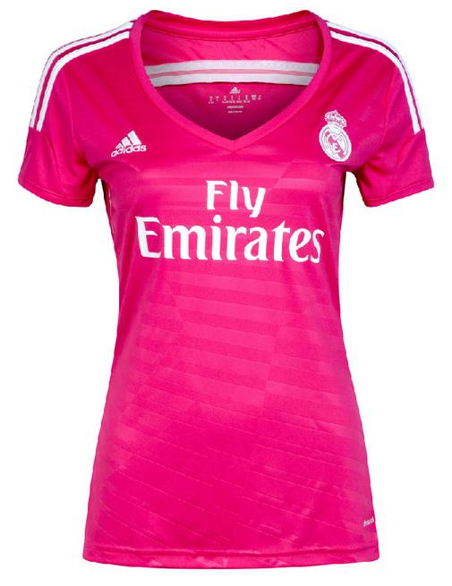 20466dc6d3680 los fans de fútbol  La camiseta del Real Madrid rosa 2014 2015 es un ...
