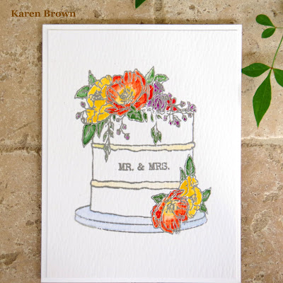 Handmade Wedding Card.