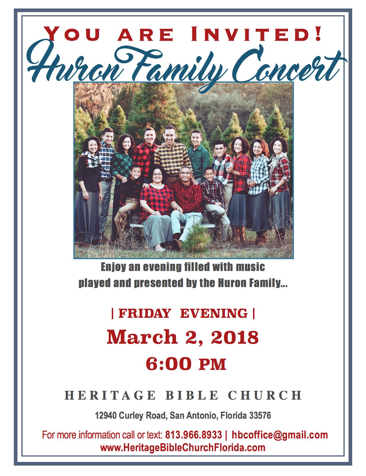 Huron Family Concert