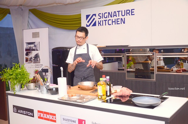 Cooking demonstration by Chef Johnny Fua