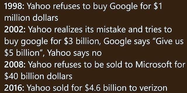 Summary of the failed history of Yahoo