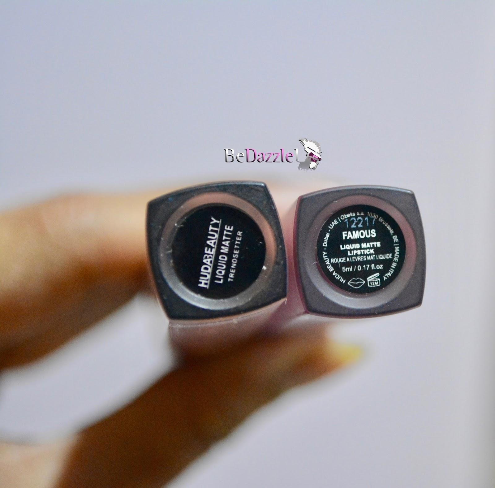 Fake Vs Original Huda Beauty Liquid Matte Lipstick Bedazzleu