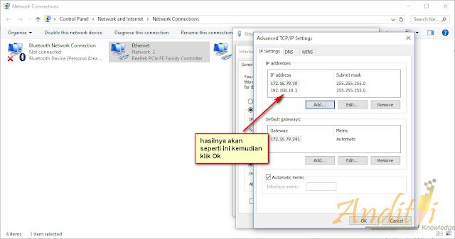 Cara Membuat Alias IP Pada Komputer-anditii.web.id