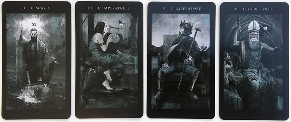 Tarot deck review the darkness of light tarot bohemianess the cards measure approximately 2 34 x 4 34 the backs are reversible and feature a horizontal image of two wolf heads the cards have a light sheen to aloadofball Gallery