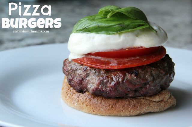 caprese burgers, Meal Planning Monday #284