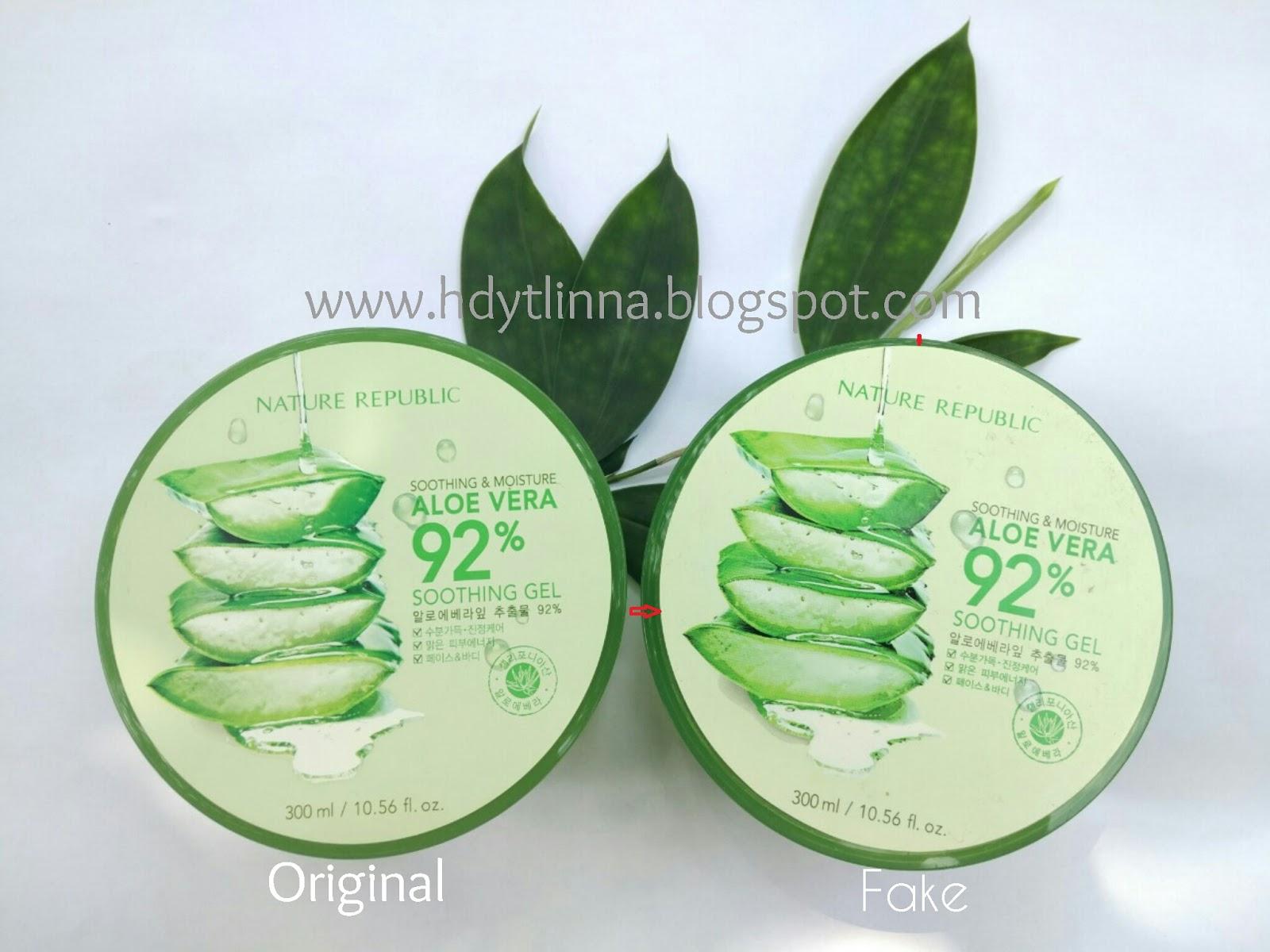 Ori Fake Ciri Nature Republic Aloevera 92 Soothing Gel Ada Embos Aloe Vera 300 Ml Tampak Depan
