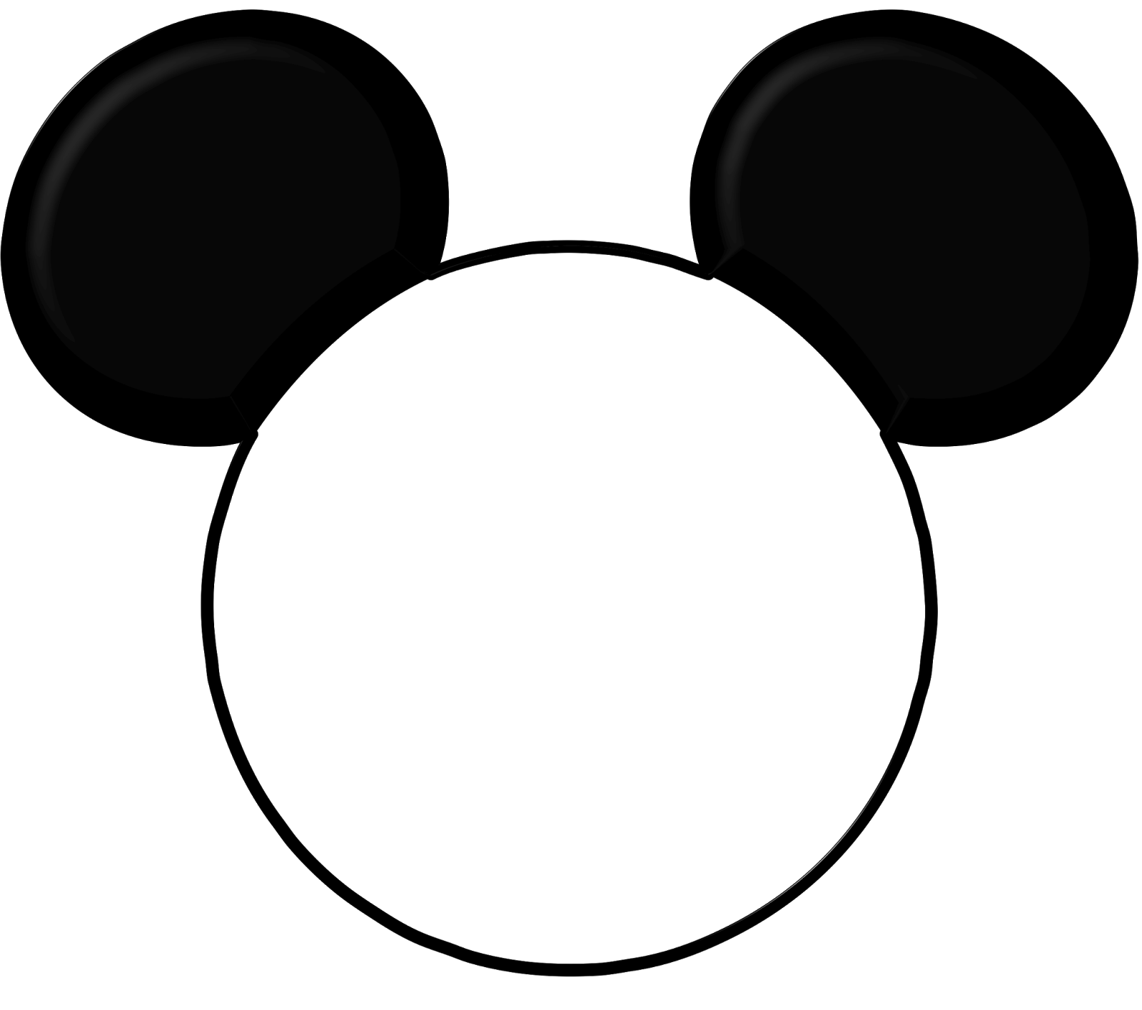 To open the Mickey Head select - Insert  then Picture  This will open    Mickey Mouse Ears Png