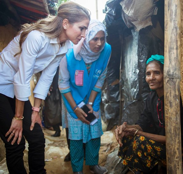 Myanmar Refugees. Queen Rania visited Rohingya refugees at the Kutupalong Refugee Camp in Cox's Bazar.