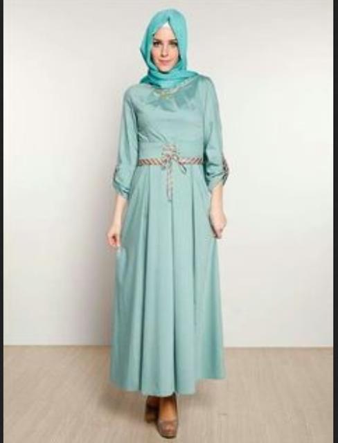 Evening long dress untuk hijabers