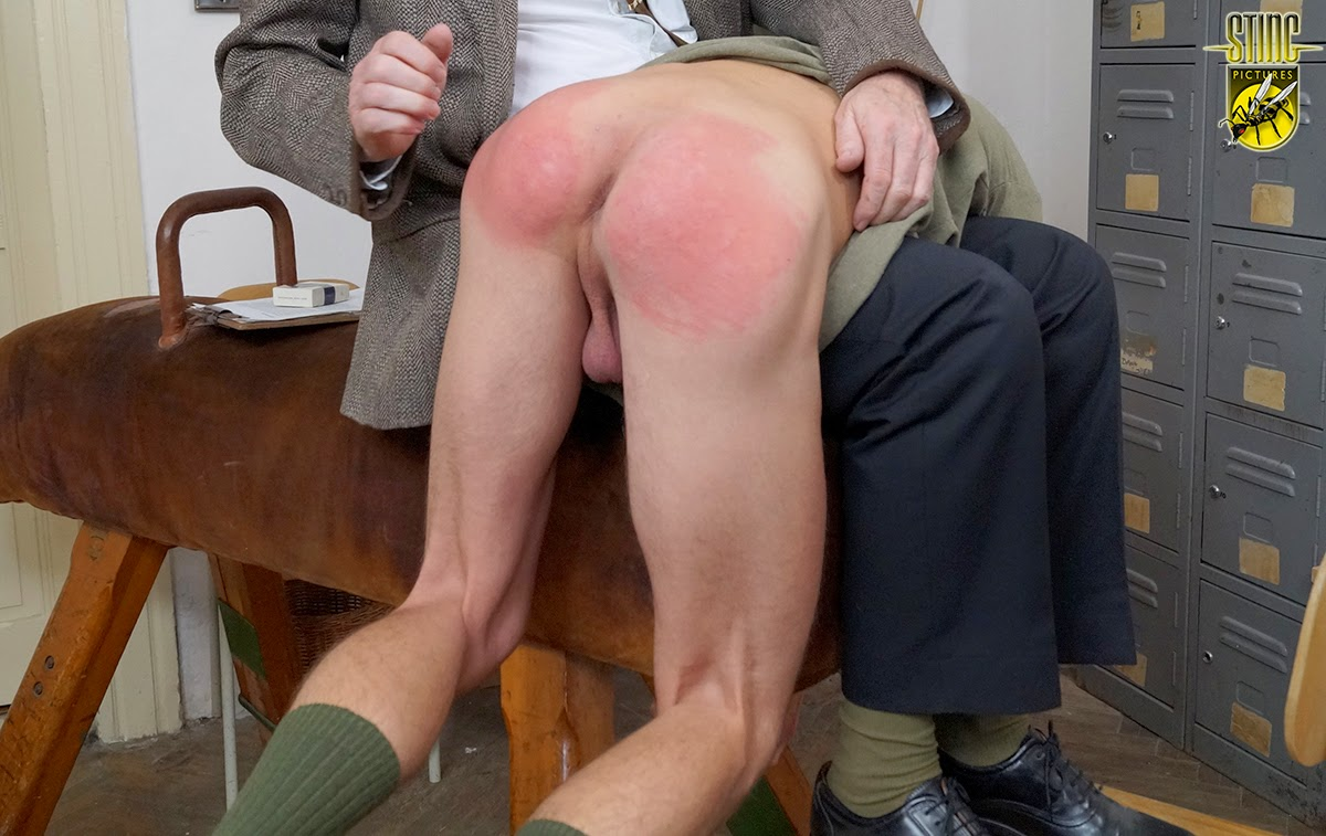 Spank cane boy bare bottom