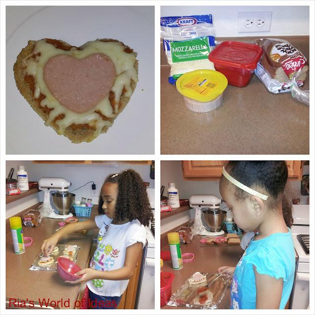 Ria's World Of Ideas: Heart Within A Heart Homemade Pizza