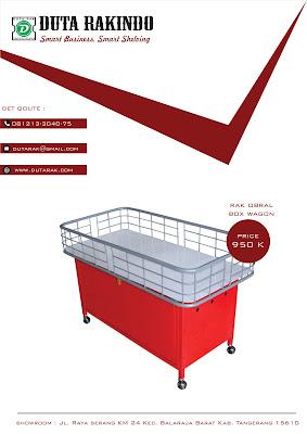 Rak Promosi | Rak Obral Box Wagon