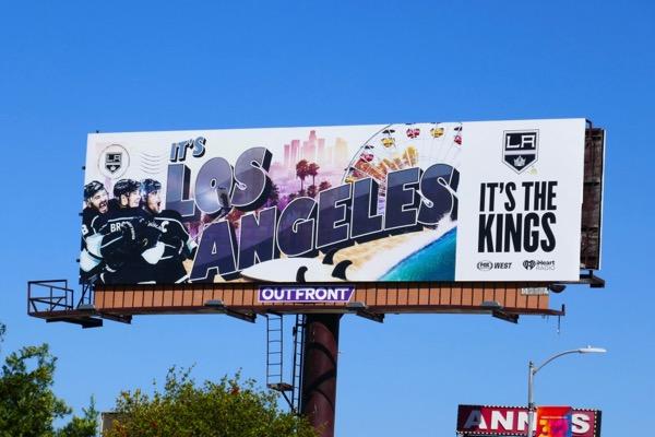 Los Angeles Kings ice hockey billboard