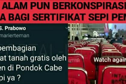 Alam Campur Tangan, Acara Jokowi Bagi-Bagi Sertifikat Sepi Peminat