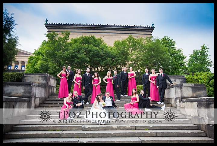 Wedding Bridal Party Philadelphia Art Museum
