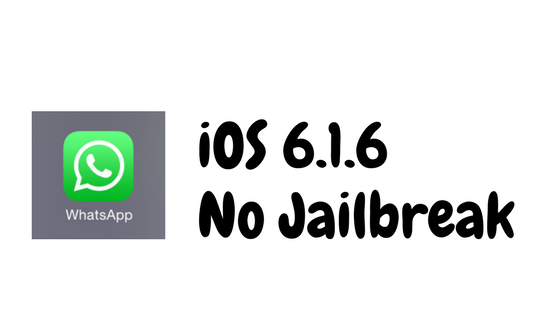 POUR TÉLÉCHARGER IOS 6.1.6 WHATSAPP IPHONE 3GS