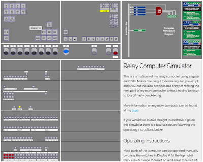 Screenshot of the Relay Computer Simulator (click for larger)