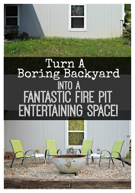 What an amazing transformation! You won't believe how easy it was to turn this boring backyard into an awesome outdoor entertaining space!- One Mile Home Style