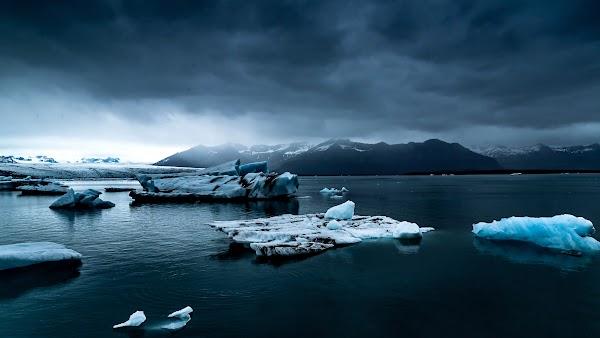 Iceberg, Ocean, Landscape in Iceland