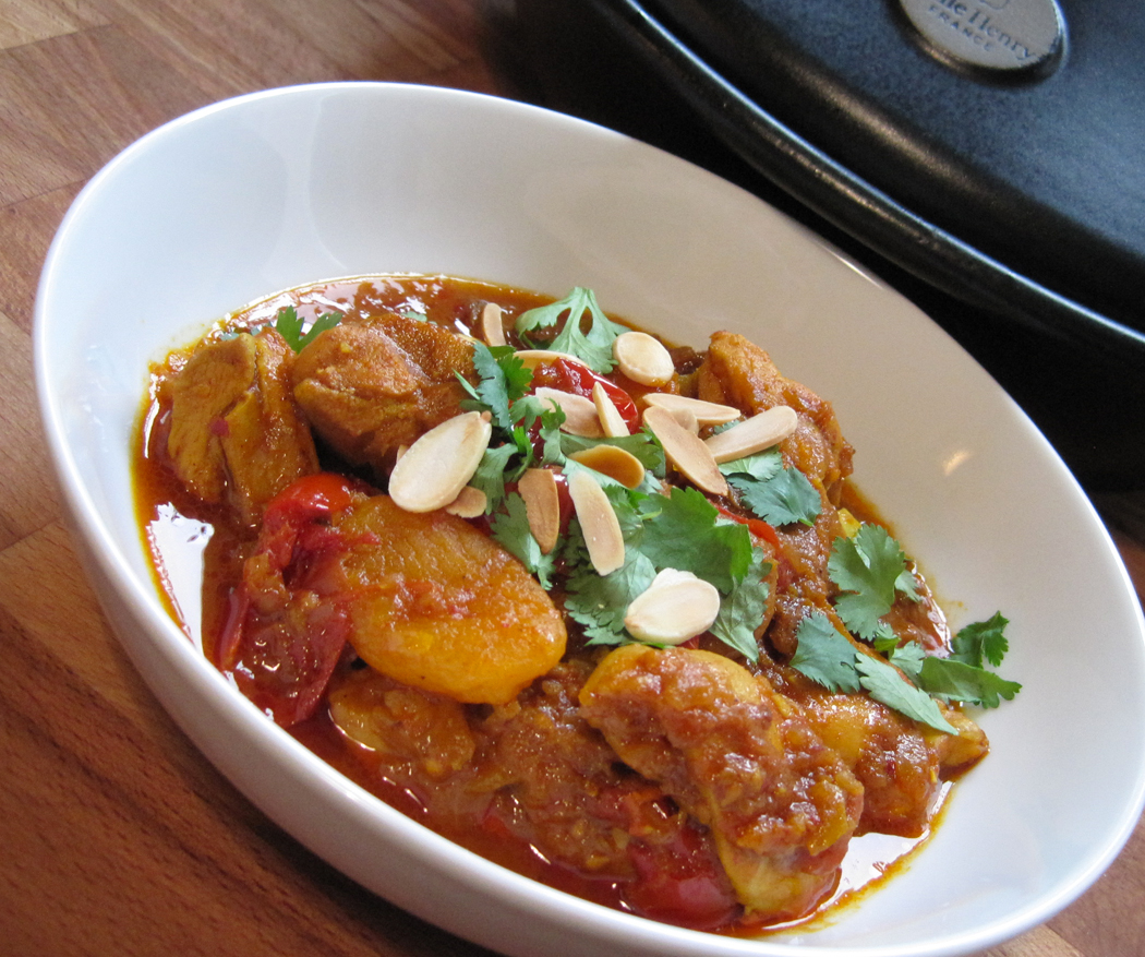 Spiced Chicken Tagine with Apricots and Preserved Lemons
