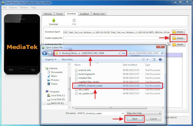 Open Scatter firmware luna G60 X untuk flash