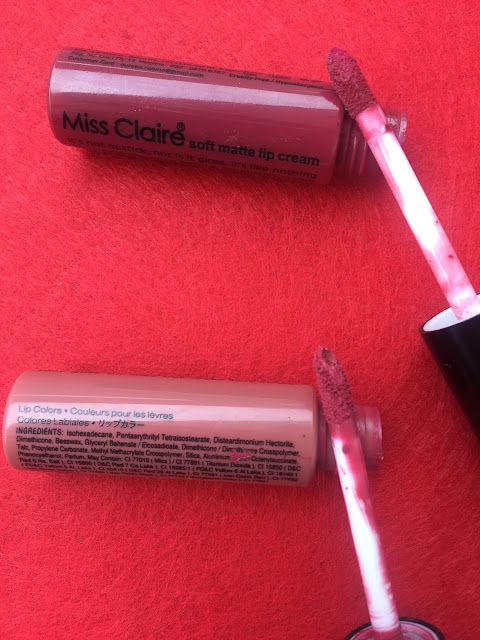 Miss Claire Soft Lip Cream 17A ,42 Review Swatches