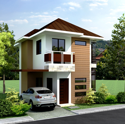 Collection 50 beautiful narrow house design for a 2 story for Pictures of two story houses in the philippines