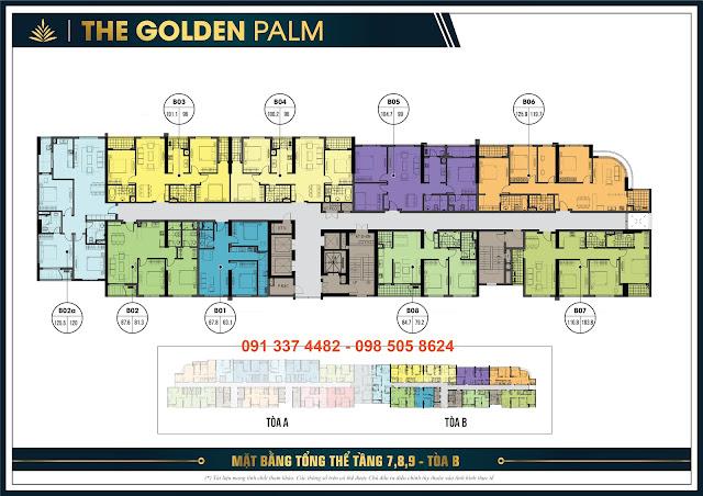 Tầng căn hộ 7, 8, 9 tòa tháp B - The Golden Palm