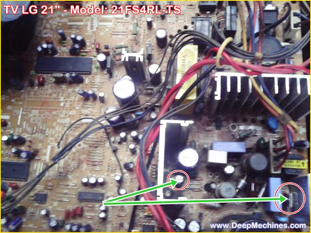 Perbaikan Kerusakan Mati Total TV LG 21-Inch - 21FS4RL-TS