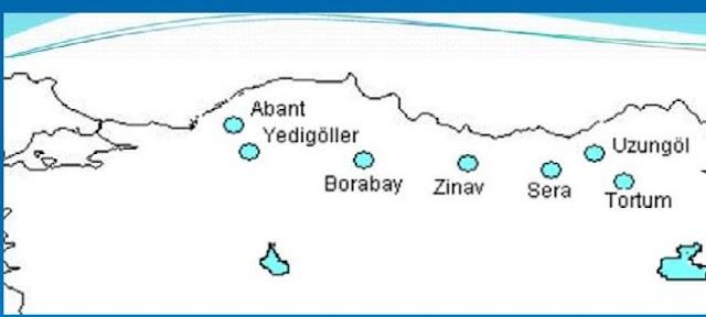 Türkiye'de Heyelan Seti Gölleri hangileridir?
